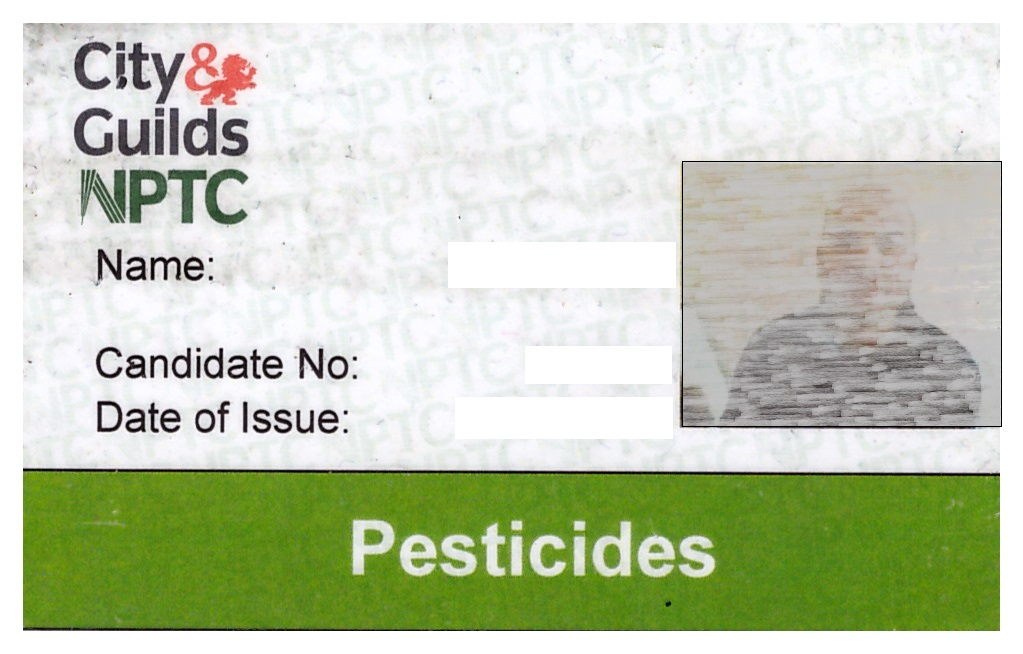 Pesticide Licence Front